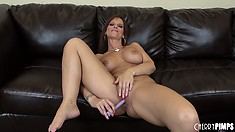 Syren De Mer fingers her wet pussy and spreads her ass cheeks