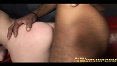 Tatiana Kush is the focus of these three guys who all want to cum