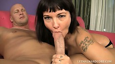 Fine as fuck brunette MILF Carrie Ann gets dirty with her hung lover