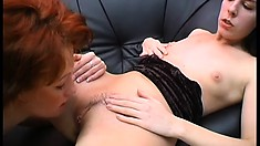 Horny college coeds Orsolya and Bernadetta handle pussy expertly