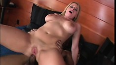 Big titty Daphne Rosen gets a black cock pumping her ass and goes ATM