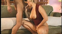 Hungry dick goes deeper into the tight anal hole of glorious blonde babe