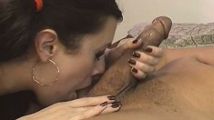 White slut in sexy lingerie has a black guy pounding her tight holes